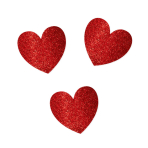 Glitter Heart Mega Value Pack Cut-outs - 6 PKG/20