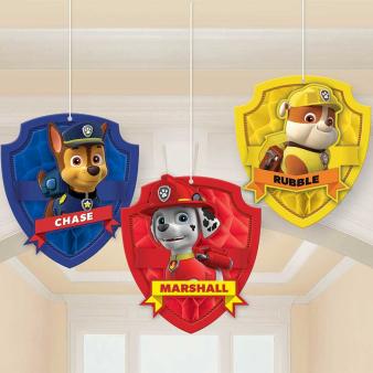 Paw Patrol Honeycomb Decorations - 6 PKG/3