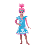 Trolls Girls Poppy Costume - Age 9-10 Years - 1 PC