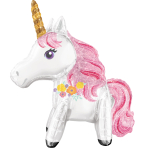 "Magical Unicorn Foil Multi Balloons 25""/55cm x 25""/63cm  A75 - 5 PC"