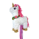Magical Unicorn Deluxe Pull Pinatas 32cm x 46cm - 4 PC