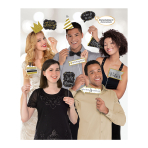 Gold Sparkling Celebration Add an Age Photo Props - 6 PC