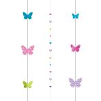 Butterflies Balloon Fun Strings 1.82m - 6 PC