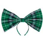 St Patrick's Oversized Plaid Headbands - 6 PC