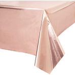 Metallic Rose Gold Foil Tablecovers 1.8m x 1.2m - 6 PC
