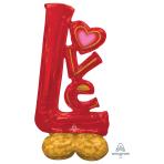 """Big Love Airloonz Large Foil Balloons 29""""/73cm w x 58""""/147cm h P70 - 3 PC"""