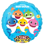 "Baby Shark Sing-A-Tune Jumbo Foil Balloons 28""/71cm P75 - 5 PC"