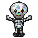 """Iridescent Skeleton SuperShape Foil Balloons 26""""/66cm w x 34""""/86cm h P40 - 5 PC"""