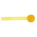 Buttercup Yellow Crepe Streamers 4.4cm x 24.7m - 12 PKG