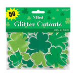 St. Patrick's Day Super Value Mini Cut-outs 6.3cm - 9 PKG/50