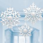 Snowflake Paper Fans - 6 PKG/3