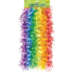 Hawaiian Tinsel Flower Lei 1.5m - 8 PKG/6
