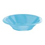 Caribbean Blue Plastic Bowls 355ml- 10 PKG/20