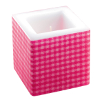 Pink Candles 8cm x 8cm - 6 PKG