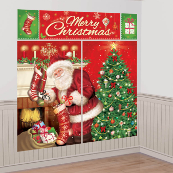 Magical Christmas Wall Decorating Kits - 12 PKG/5