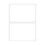 Plain White Name Tags - 12 PKG/100