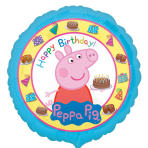 Peppa Pig Happy Birthday Standard Foil Balloons S60  - 5 PC