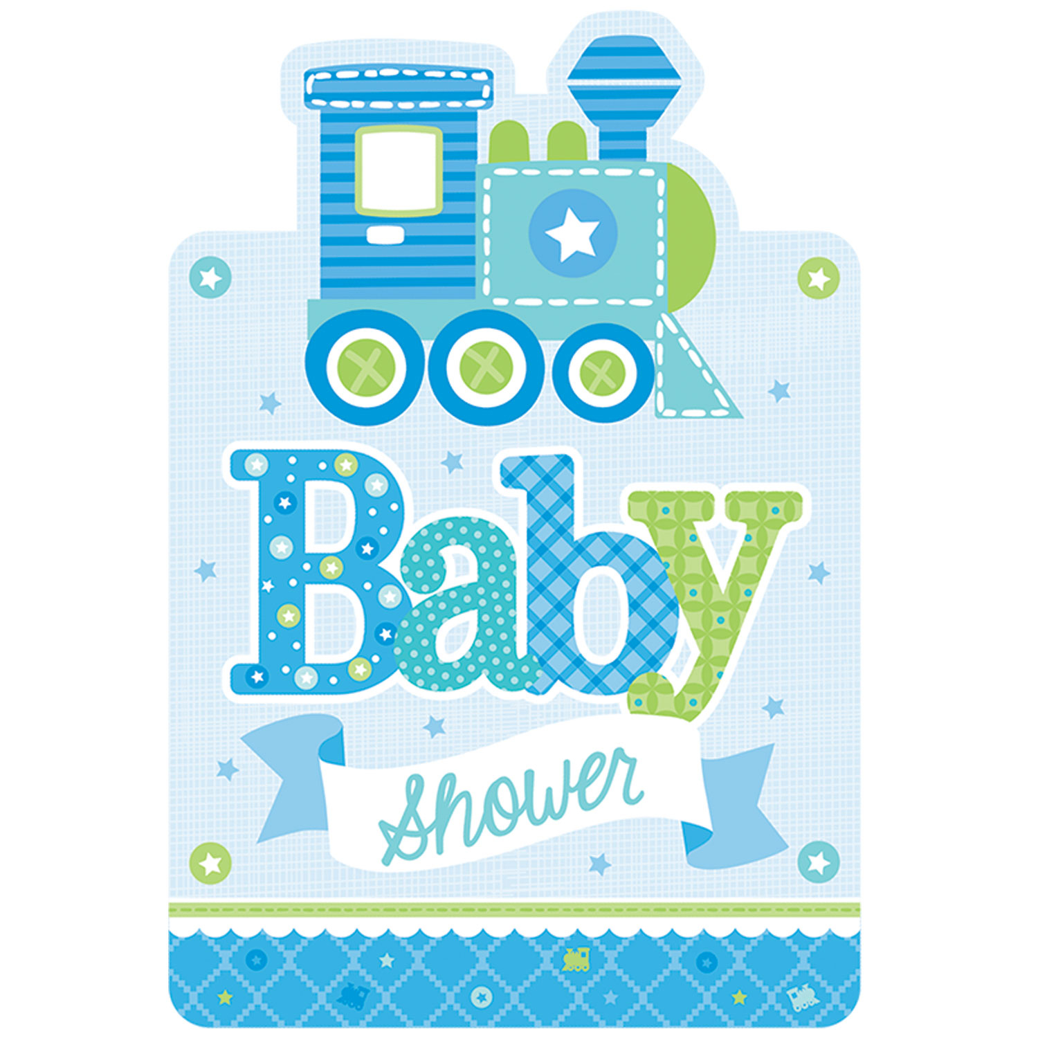Welcome Baby Boy Postcard Invitations