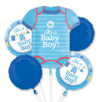 Shower with Love Boy Foil Bouquet Balloons P75 - 3 PC