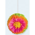 Hawaiian Fluffy Flower Decorations - 9 PKG/3