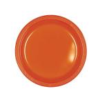 Orange Peel Plastic Plates 18cm - 10 PKG/10