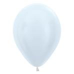 "Satin Solid White 405 Latex Balloons 5""/13cm - 100 PC"