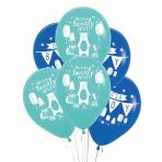 "Bear-ly Wait 4 Sided Latex Balloons 11""/28cm - 6 PKG/6"