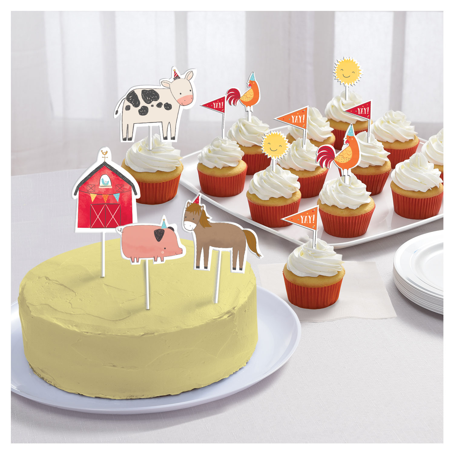 Barnyard Birthday Cake Topper Kits