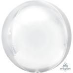 "White Orbz XL Packaged Foil Balloons 15""/38cm w x 16""/40cm h G20 - 5 PC"