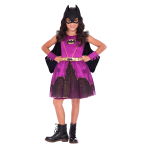 Purple Batgirl Classic Costume - Age 8-10 Years - 1 PC