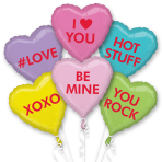 Candy Hearts Foil Balloon Bouquets P60 - 3 PC