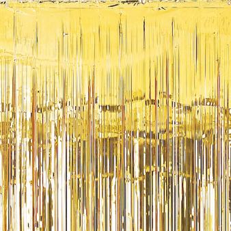Gold Metallic Door Curtains 91cm x 2.43m - 6 PC