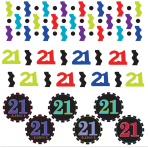 21st Age 3 Pack Mixed Confetti - 12 PKG/3
