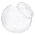 Round Plastic Clear Angled Containers with Lids - 6 PC
