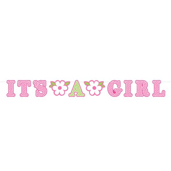 Welcome Baby Girl Illustrated Letter Banner - 6 PKG/2 ...