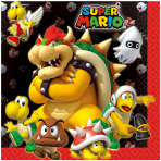 Super Mario Luncheon Napkins 33cm - 6 PKG/16