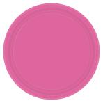 Bright Pink Paper Plates 23cm - 12 PKG/8