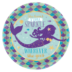 Mermaid Wishes Paper Plates 18cm - 12 PKG/8