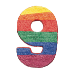 Numbers 9 Pinatas - 4 PC