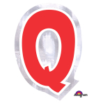 Personalised Letter: Q Stickers - 48 PC