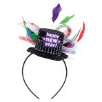 Happy New Year Deluxe Headband 23cm x 12.7cm - 6 PC