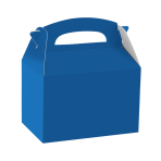 Bright Royal Blue Party Boxes - 75 PC
