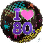 Totally 80s Standard HX Foil Balloons S40 - 5 PC