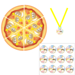 Little Cooks Find the Pizza Party Games - 6 PKG/8