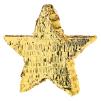 Gold Foil Star Pinatas - 4 PC