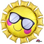 "Fun in the Sun SuperShape Foil Balloons 27""/68cm w x 27""/68cm h P30 - 5 PC"