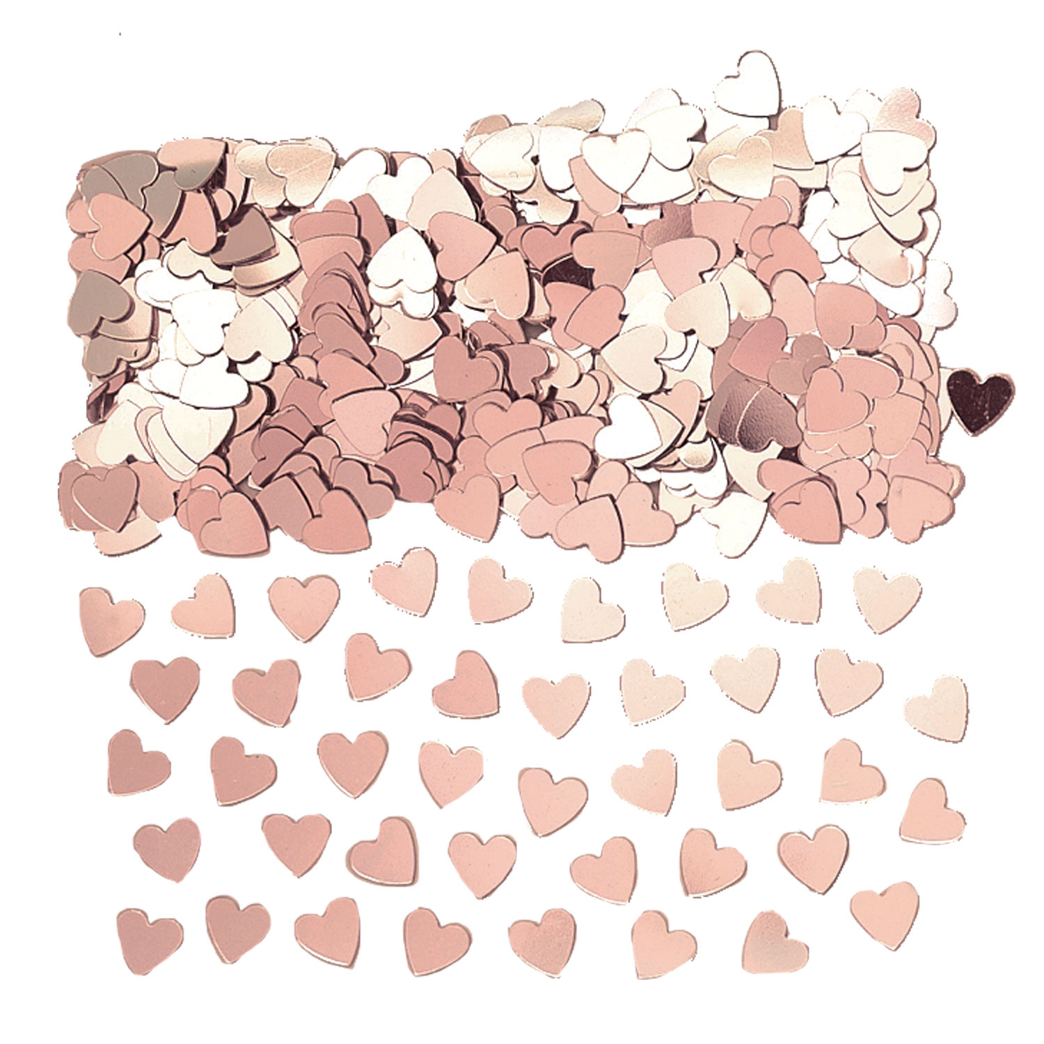 Hearts Rose Gold Confetti 14g - 12 PC : Amscan International