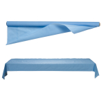 Pastel Blue Jumbo Plastic Tableroll 1m x 76m  - 1 PC