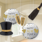 New Years Hanging Bouquets - 6 PKG/5