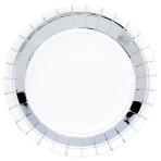 Metallic Silver Paper Plates 23cm - 6 PKG/8